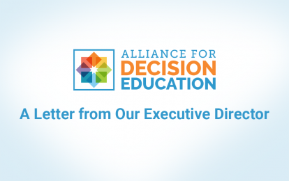 A letter from our executive director